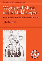 Words and music in the Middle Ages : song, narrative, dance, and drama, 1050-1350
