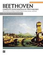 32 sonatas for the pianoforte