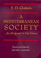 A Mediterranean society : an abridgment in one volume
