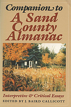 Companion to A sand county almanac : interpretive & critical essays