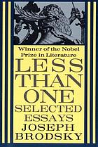 Less than one : selected essays