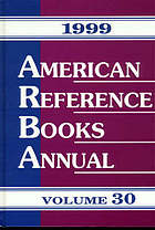 American reference books annual, 1999