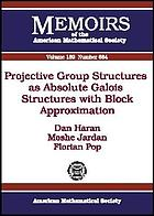 Projective group structures as absolute Galois structures with block approximation