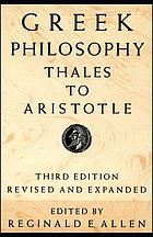 Greek philosophy : Thales to Aristotle