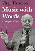 Music with words : a composer's view