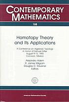 Homotopy theory and its applications : a conference on algebraic topology in honor of Samuel Gitler, August 9-13, 1993, Cocoyoc, Mexico