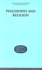 Philosophy and religion; [essays]