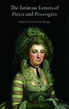 The intimate letters of Hester Piozzi and Penelope Pennington, 1788-1821