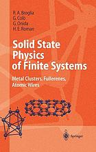 Solid state physics of finite systems : metal clusters, fullerenes, atomic wires