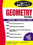 Schaum's outline of theory and problems of geometry : includes plane, analytic, and transformational geometriesGeometría : (incluye geometría, plana, analítica, transformacional y de sólidos)
