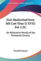 Hali meidenhad, from ms. Cott. Titus D. XVIII. fol. 112c. An alliterative homily of the thirteenth century