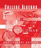 College algebra : modeling our world