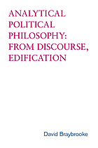 Analytical political philosophy : from discourse, edification