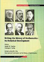 Writing the history of mathematics