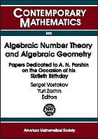 Algebraic number theory and algebraic geometry : papers dedicated to A.N. Parshin on the occasion of his sixtieth birthday