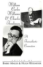 William Carlos Williams & Charles Tomlinson : a transatlantic connection
