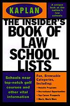 The insider's book of law school lists