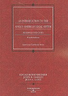 An introduction to the Anglo-American legal system : readings and cases