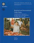 Regional and international trade policy lessons for the EU accession in the rural sector--World Bank/FAO workshop, June 20-23, 1998