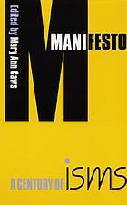 Manifesto : a century of isms