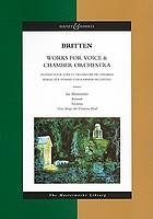 Works for voice & chamber orchestra = Œuvres pour voix et orchestre de chambre = Werke für Stimme und Kammerorchester