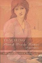 Teaching British women writers, 1750-1900
