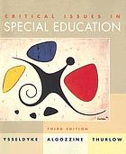 Critical issues in special and remedial education