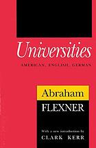 Universities, American, English, German