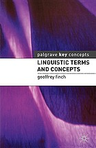 Linguistic terms and concepts