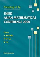 Proceedings of the Third Asian Mathematical Conference 2000 : University of the Philippines, Diliman, Philippines, 23-27 October 2000