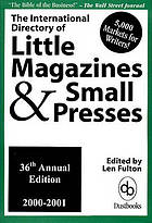 The international directory of little magazines & small presses 2000-2001