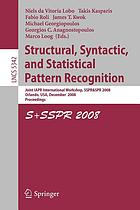 Structural, syntactic, and statistical pattern recognition joint IAPR international workshop, SSPR & SPR 2008, Orlando, USA, December 4-6, 2008 : proceedings