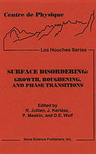 Proceedings of the workshop on surface disordering : growth, roughening, and phase transitions