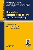 D-modules, Representation Theory, and Quantum Groups : Lectures given at the 2nd Session of the Centro Internazionale Matematico Estivo (C.I.M.E.) held in Venezia, Italy, June 12-20, 1992
