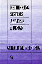Rethinking systems analysis and design