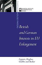 British and German interests in EU enlargement : conflict and cooperation