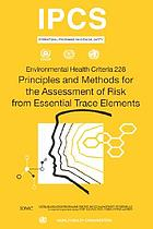 Principles and methods for the assessment of risk from essential trace elements