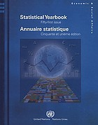 Statistical yearbook : 1993 = Annuaire statistique