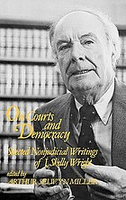 On courts and democracy : selected nonjudicial writings of J. Skelly Wright