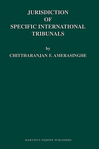Jurisdiction of international tribunals