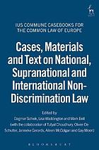 Cases, materials and text on national, supranational and international non-discrimination law
