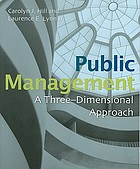 Public management : a three-dimensional approach