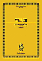 Konzertstück : F minor, for pianoforte and orchestra op. 79
