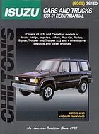 Isuzu cars and trucks, 1981-91 : repair manual