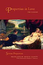 Propertius in love the elegies