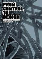 From control to design : parametric/algorithmic architecture