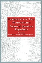 Immigrants in two democracies : French and American experience
