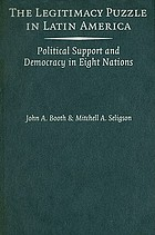 The legitimacy puzzle in Latin America : political support and democracy in eight nations