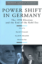 Power shift in Germany : the 1998 election and the end of the Kohl era