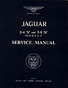 Jaguar 3.4 'S' and 3.8 'S' models service manual